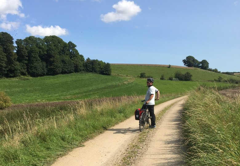 Cycling through the beautiful countryside of East Jutland Denmark