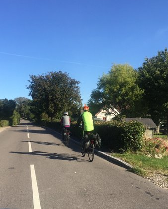 Ride along quiet roads on your bike holiday on island on Møn Denmark