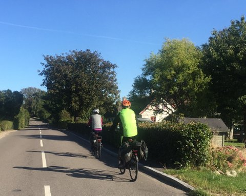 Active cycling holiday on island of Møn, south coast of Denmark
