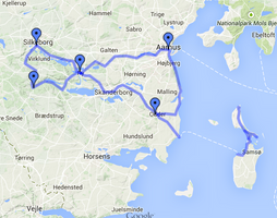 East Jutland and Samsø cycling route