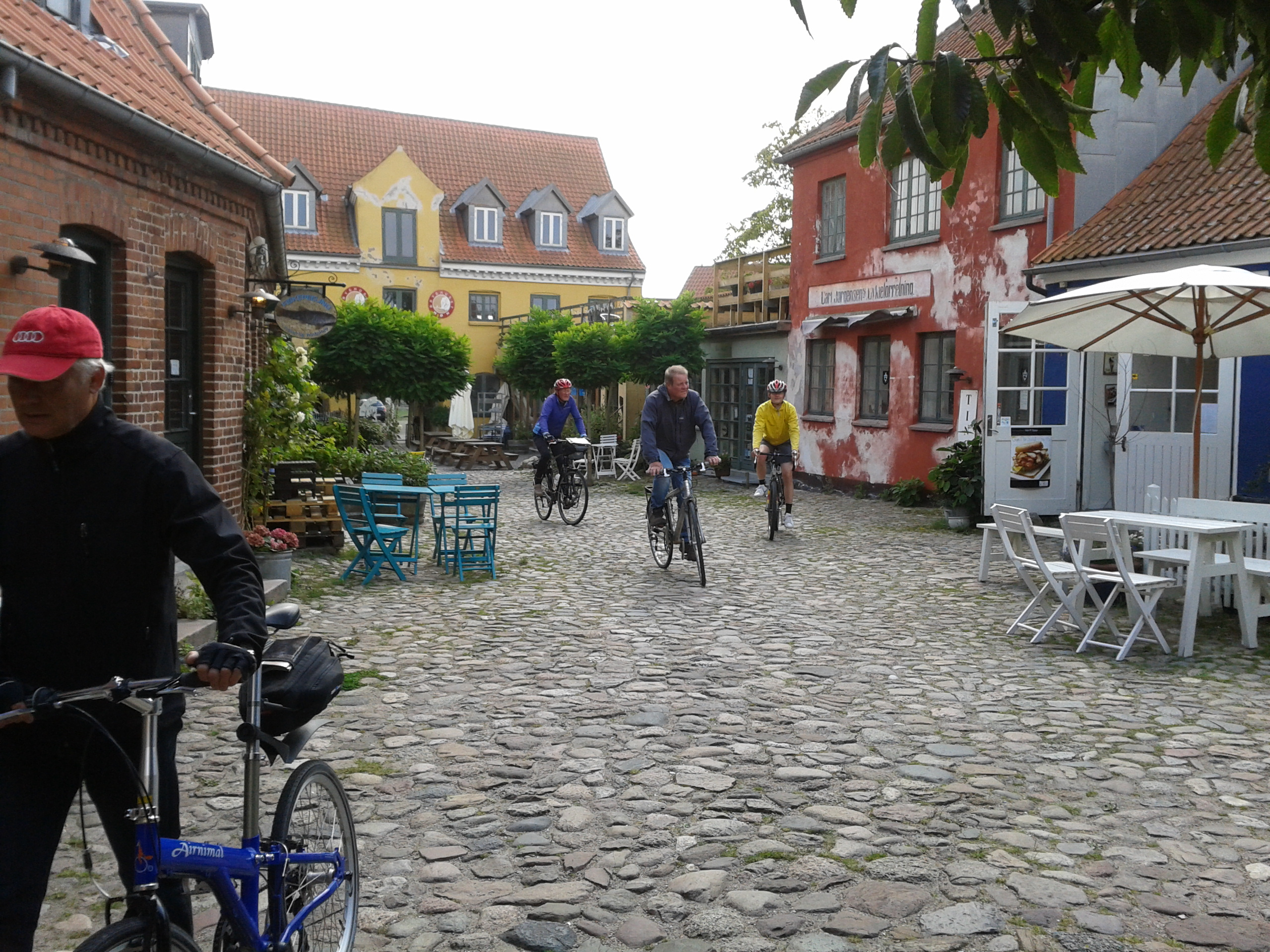 Cycling holiday on island of Moen Denmark