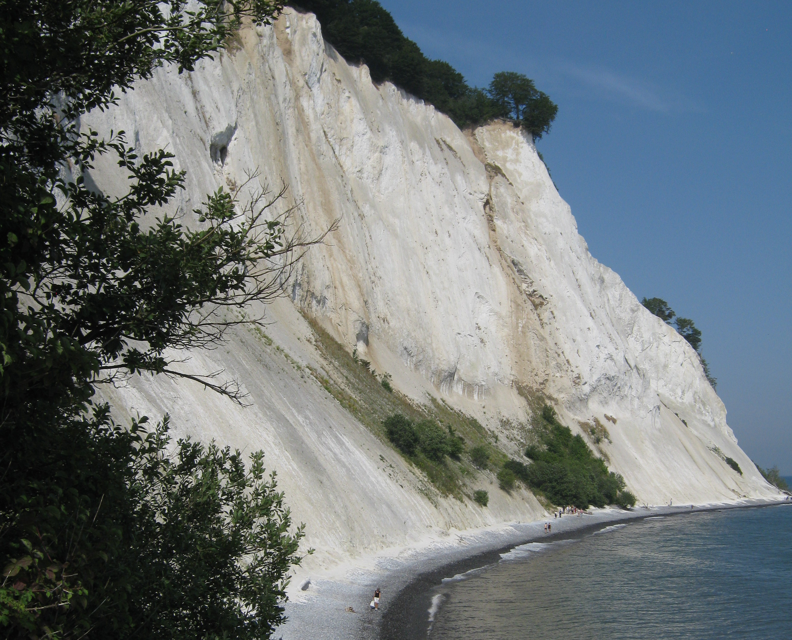 White cliffs on Moen