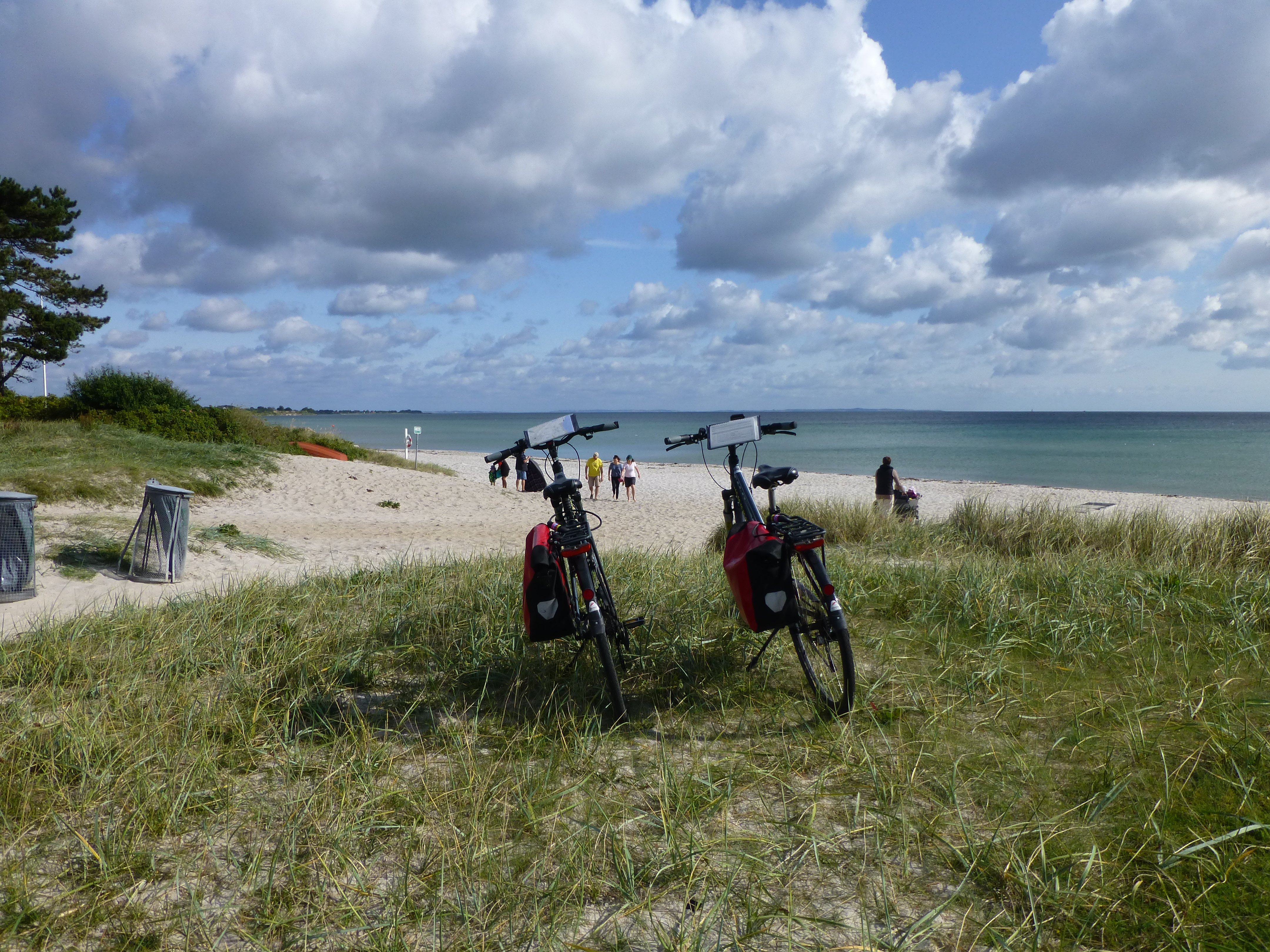 Cycling along the beach in East Jutland
