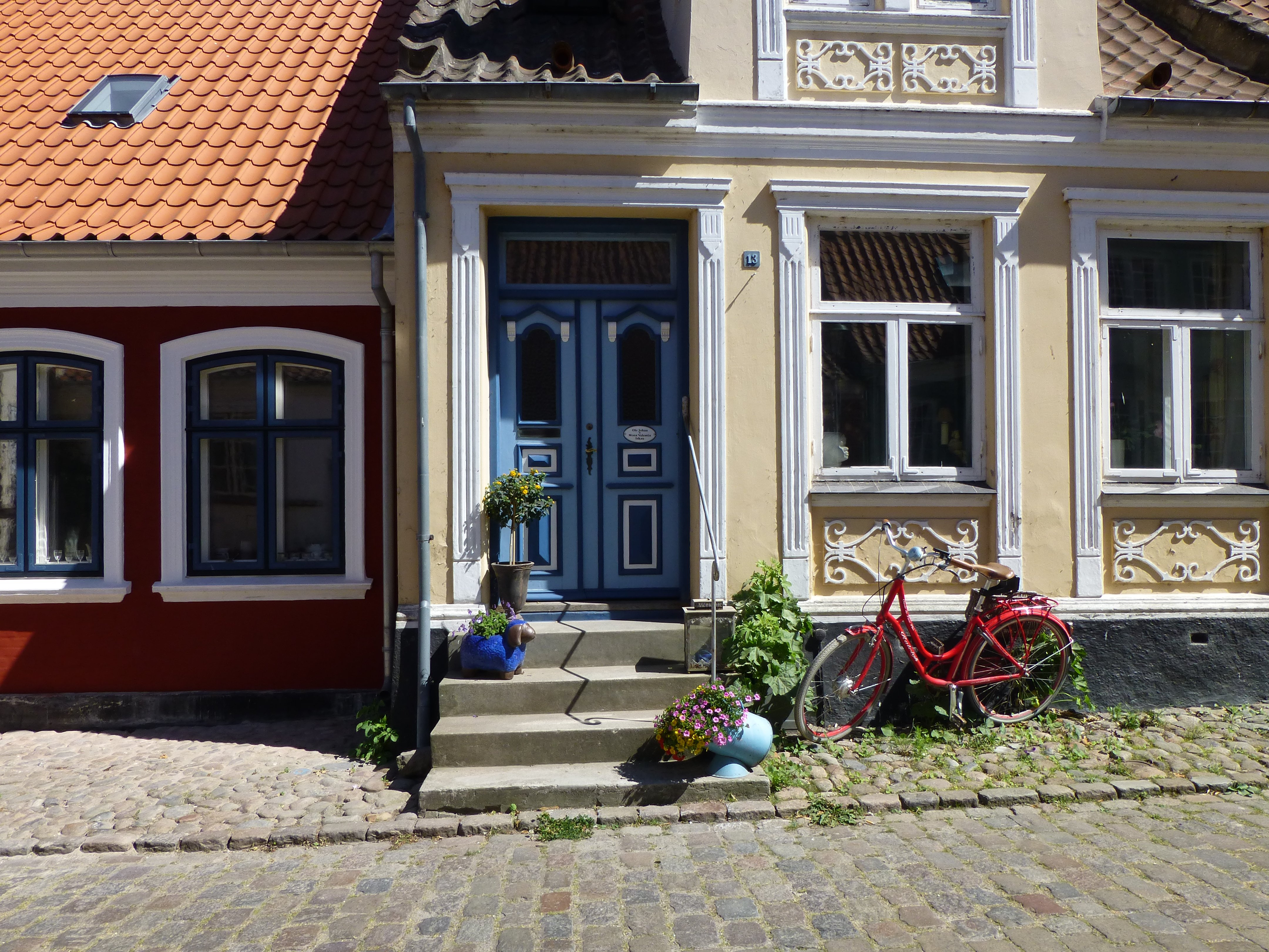Charming houses on island of Ærø